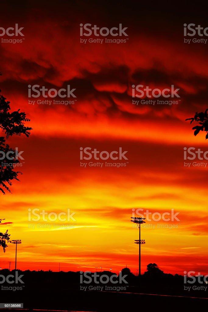 Allen Celebration Park Sunset after storm stock photo