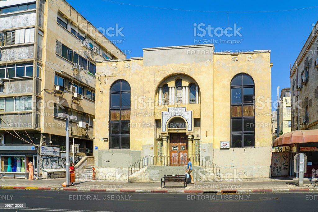 Allenby street, Tel-Aviv stock photo