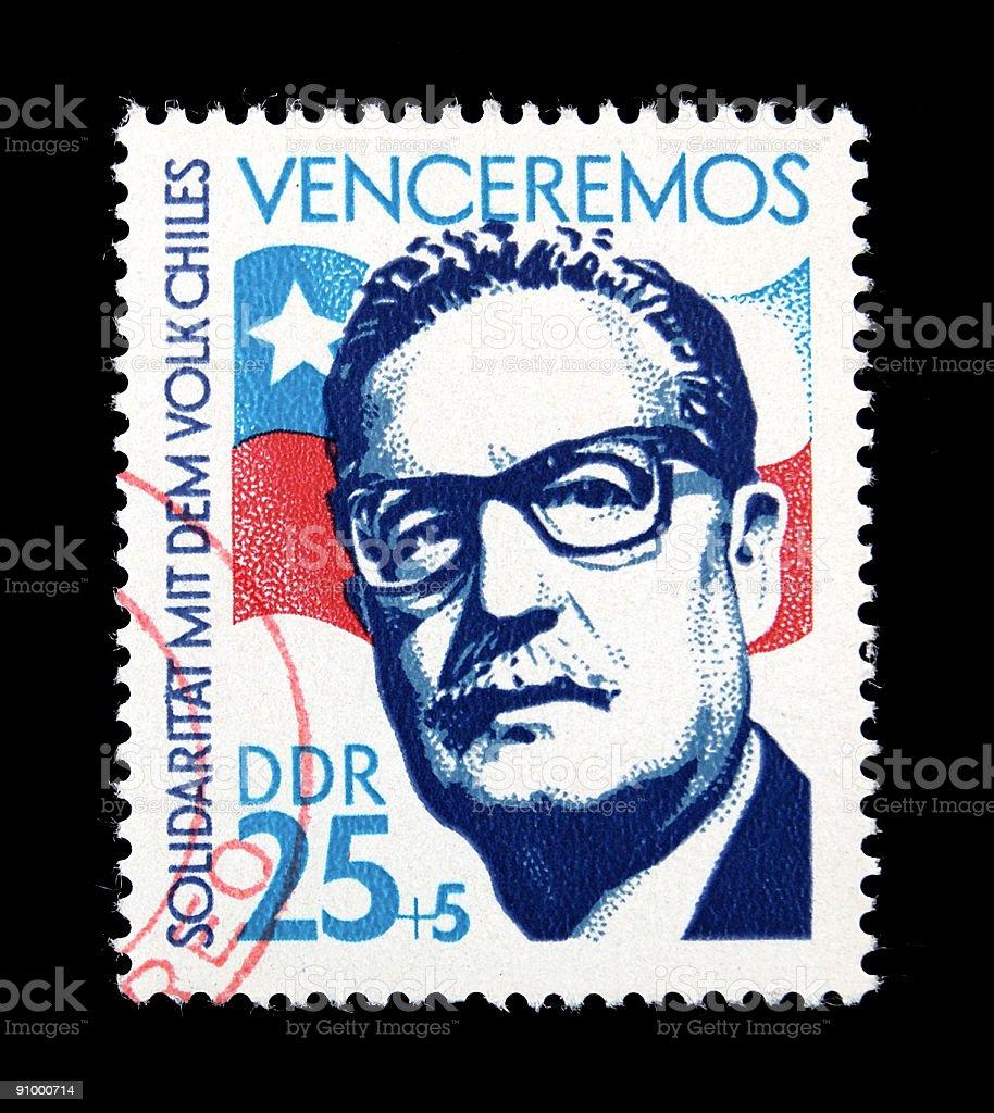 Allende Postage Stamp stock photo
