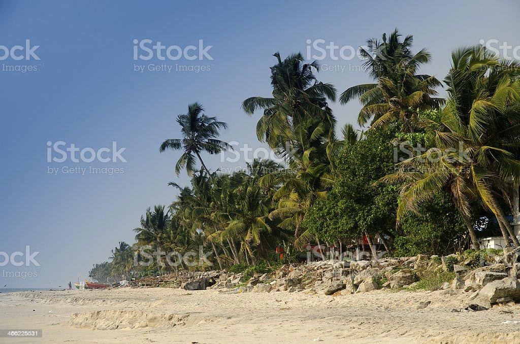 Alleppey beach Kerala India stock photo
