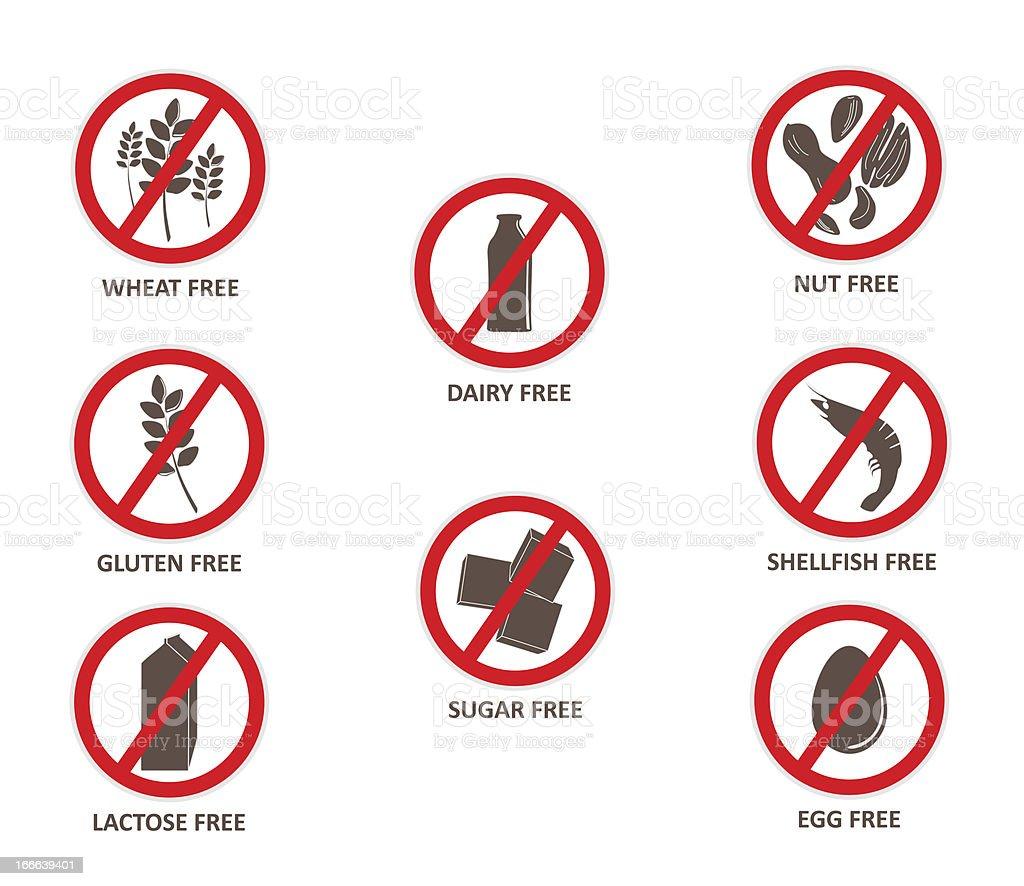 Allergen Free Stickers stock photo