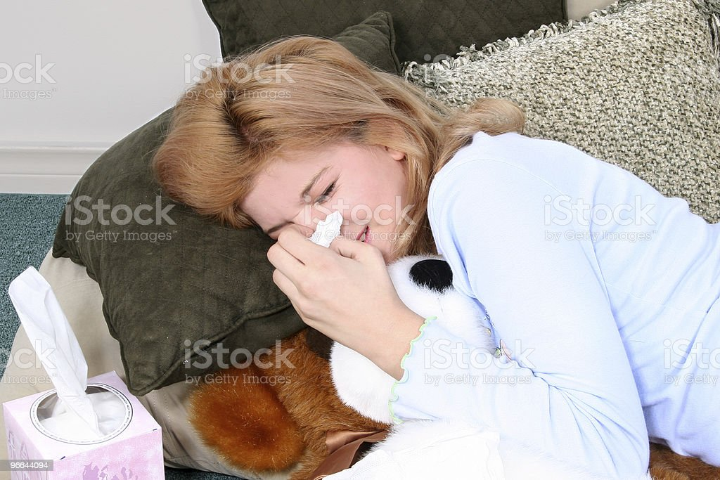 Allergies Cold Flu royalty-free stock photo