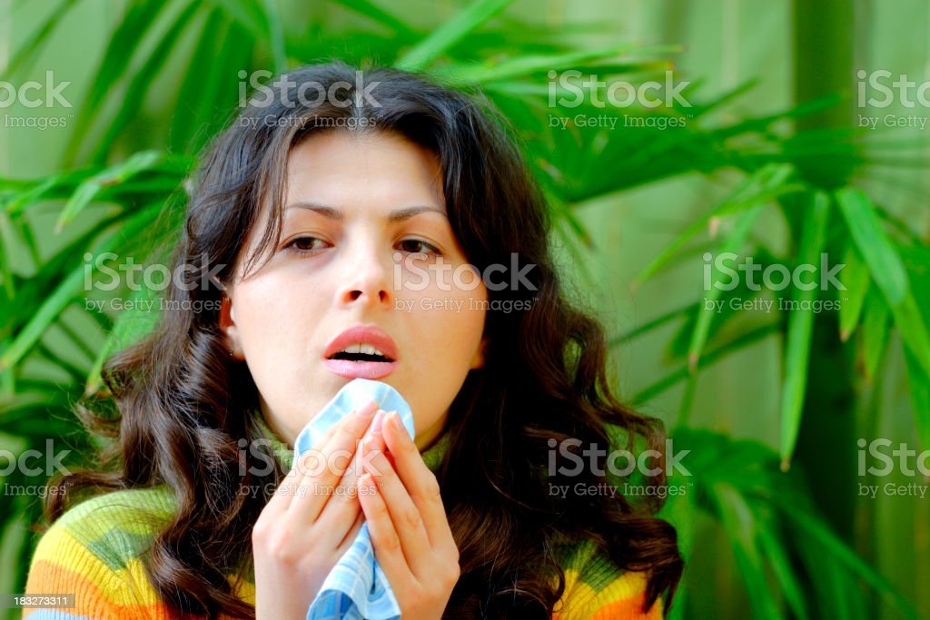 Allergy, Cold, Flu royalty-free stock photo