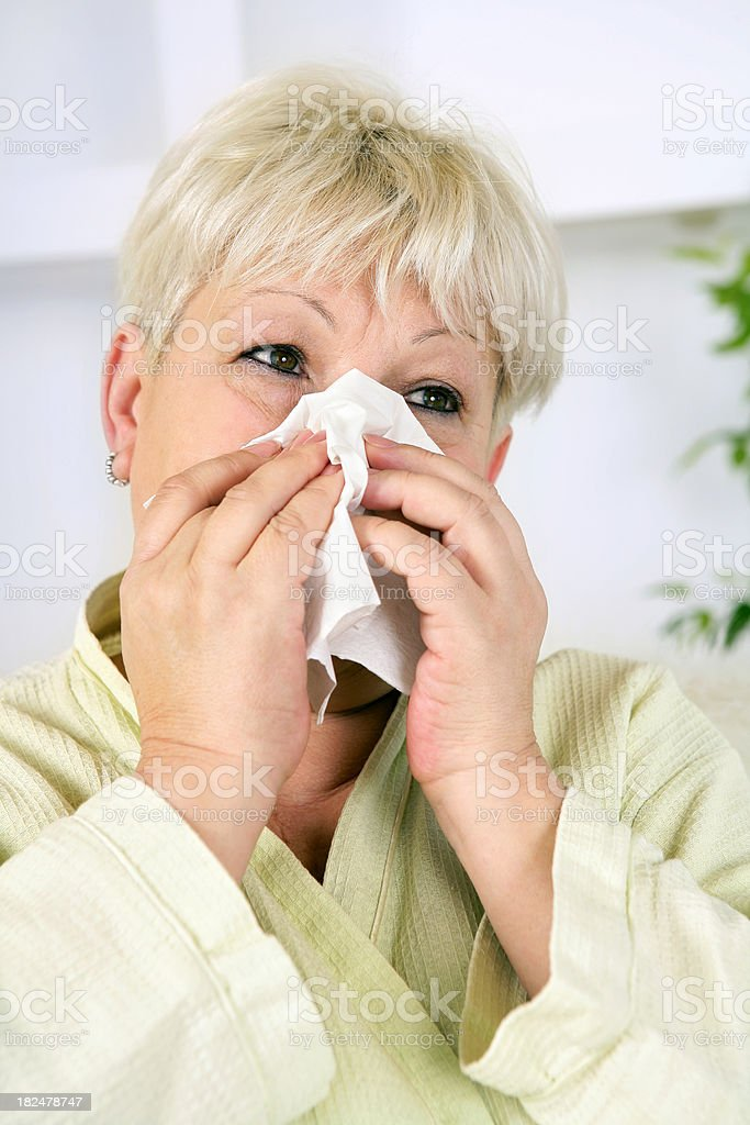 Allergy, Cold, Flue royalty-free stock photo