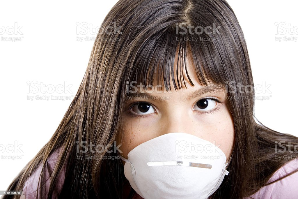 Allergy girl royalty-free stock photo