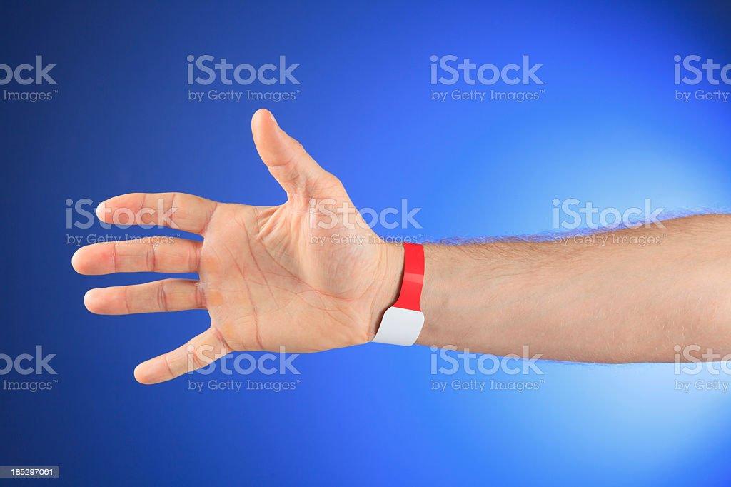 Allergy Hospital Bracelet stock photo