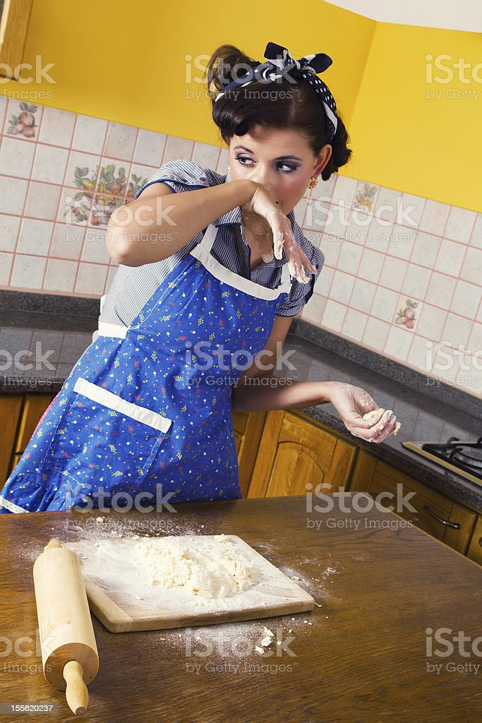 Allergy in the kitchen stock photo