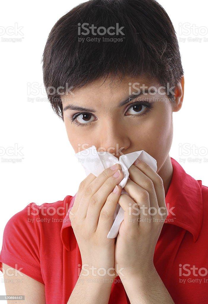 allergy or illness royalty-free stock photo