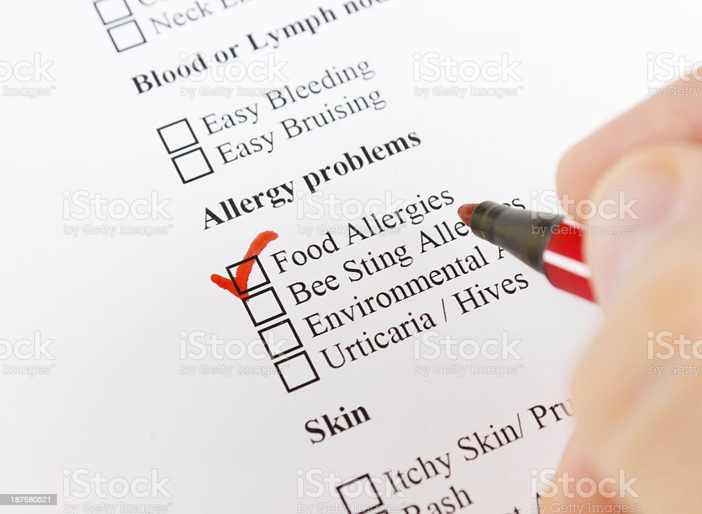 Allergy problems stock photo
