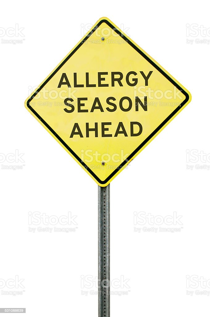 Allergy Season Ahead stock photo