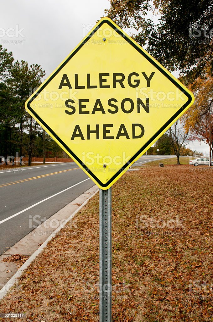 Allergy Season Ahead stock photo