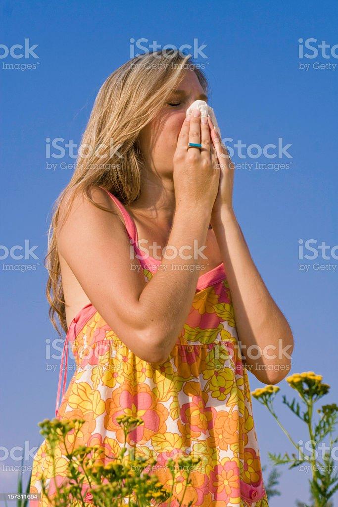 Allergy Season royalty-free stock photo