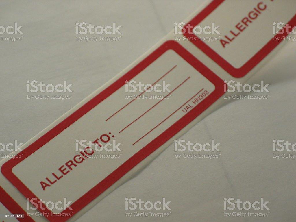 Allergy Sticker royalty-free stock photo