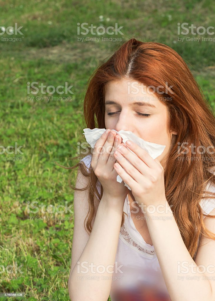 Allergy Sufferers stock photo