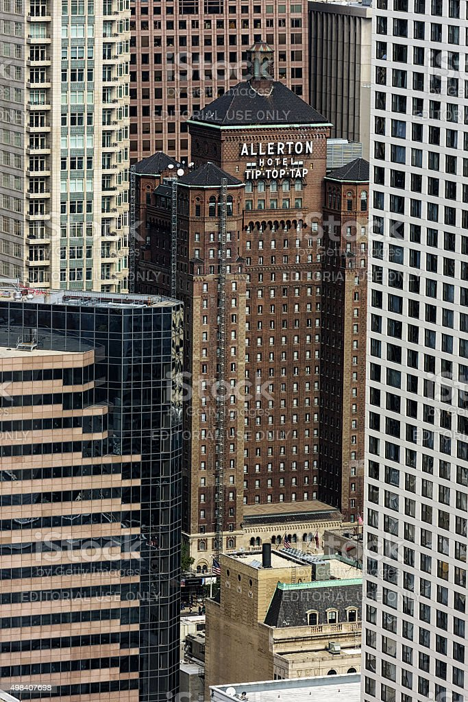 Allerton Hotel and Tip Top Tap lounge, Chicago stock photo
