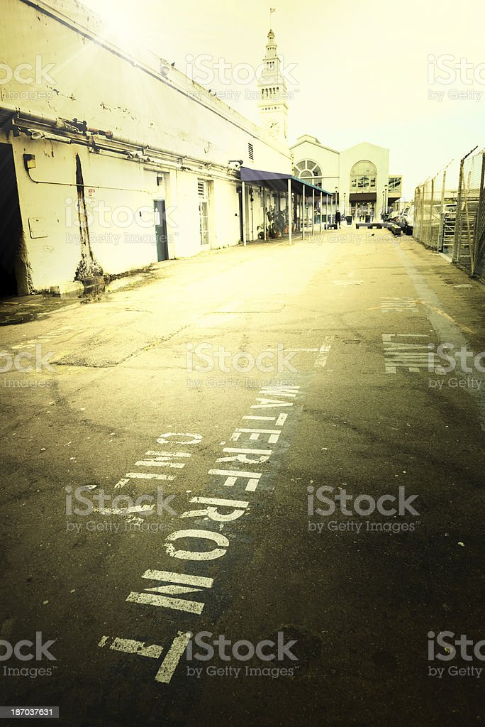 Alley at Dawn, San Francisco royalty-free stock photo