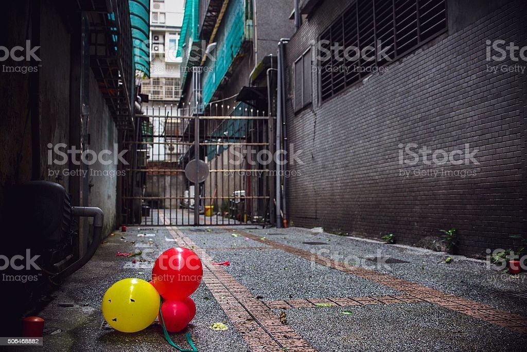 Alley Balloons stock photo