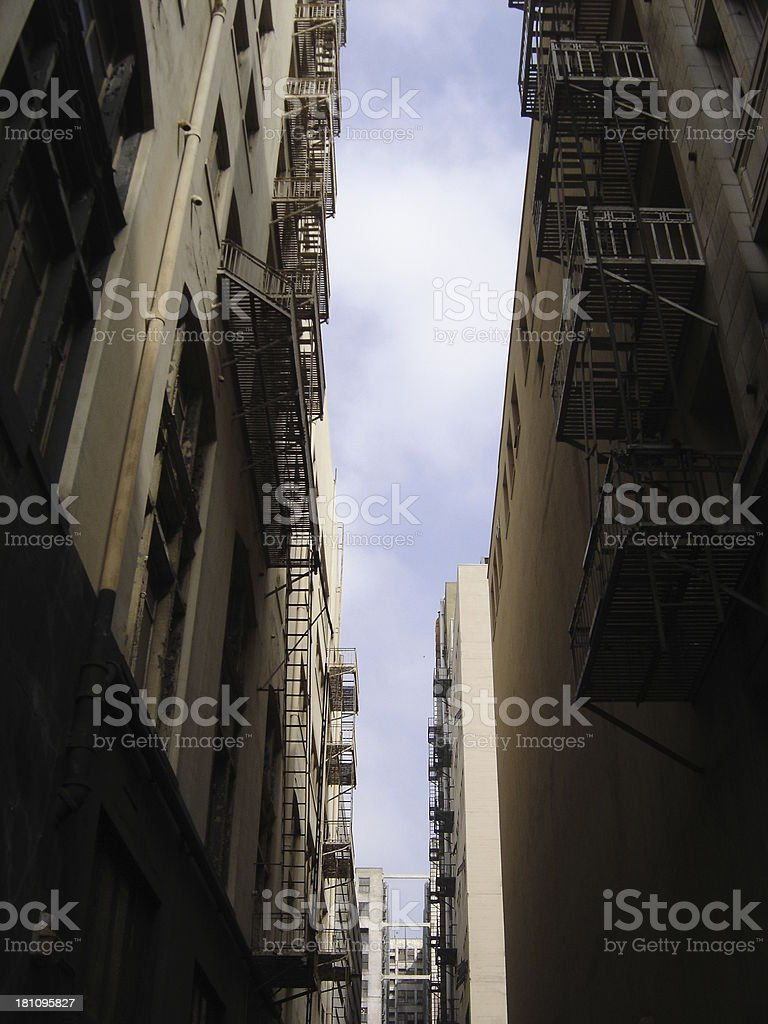 Alley between buildings royalty-free stock photo