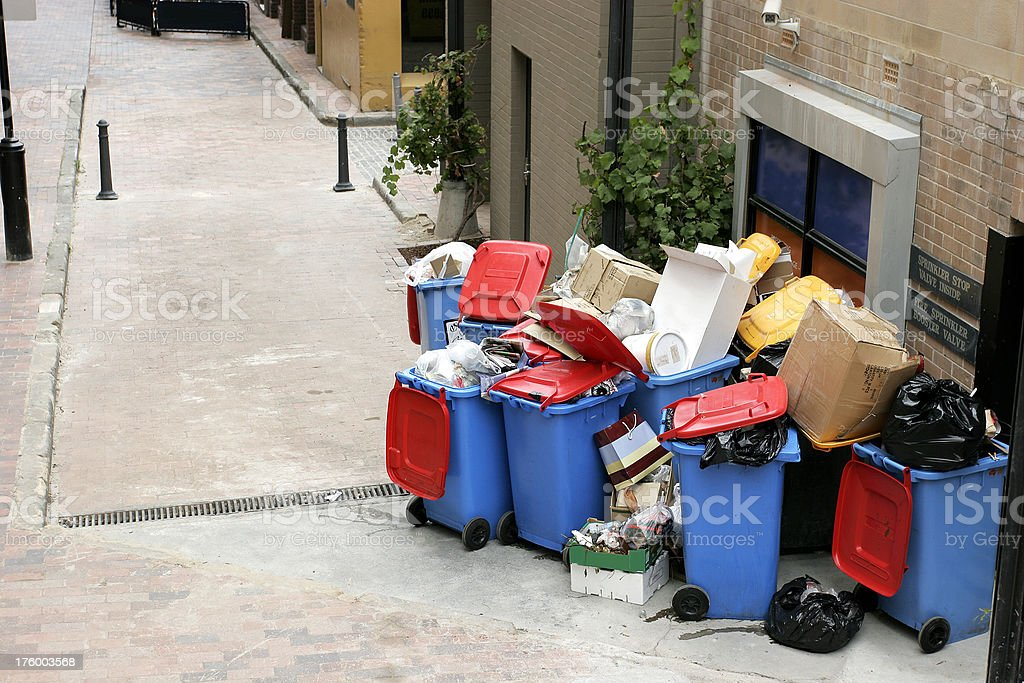 Alley Garbage royalty-free stock photo