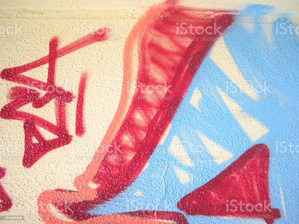 Alley Graffiti royalty-free stock photo
