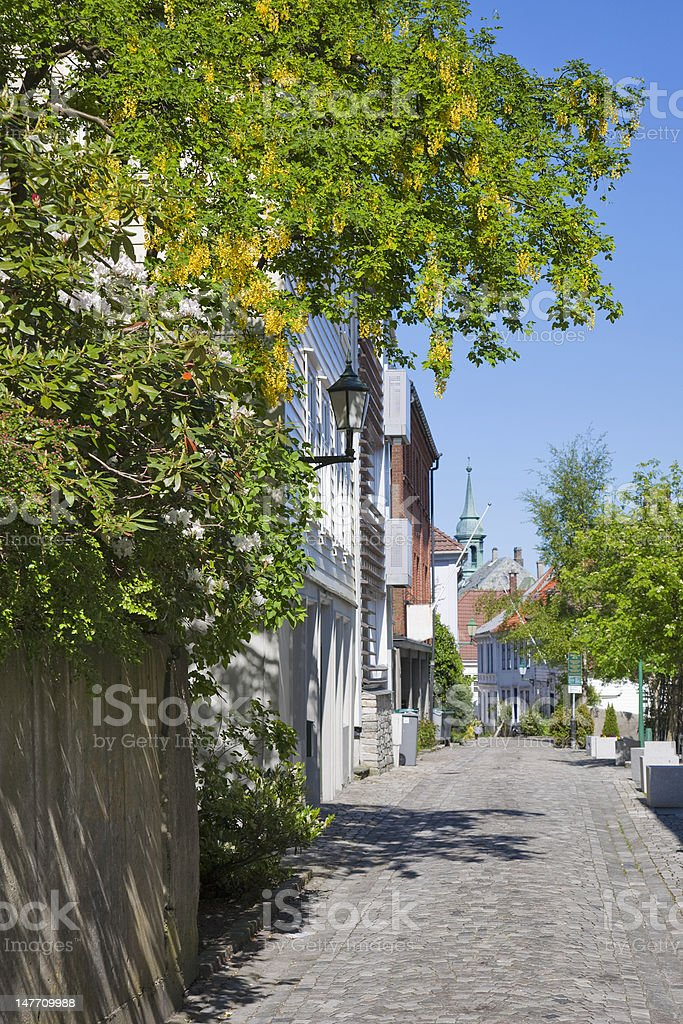 Alley in a old town royalty-free stock photo