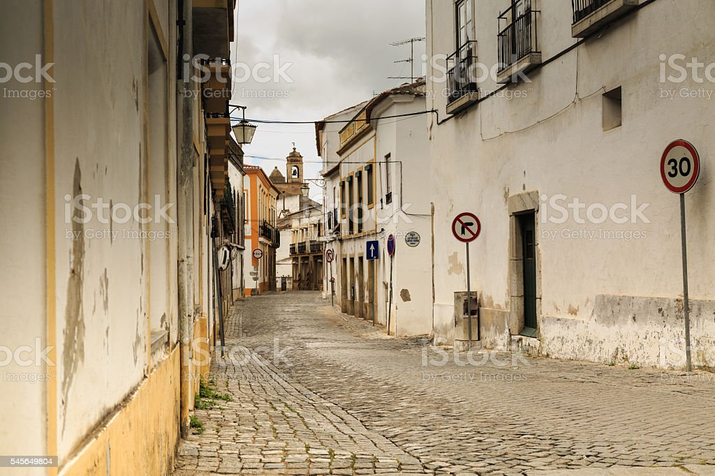 alley in Beia of Portugal stock photo