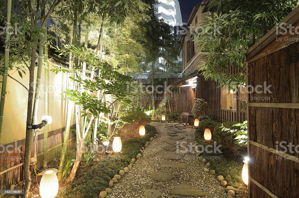 Alley in Japan stock photo