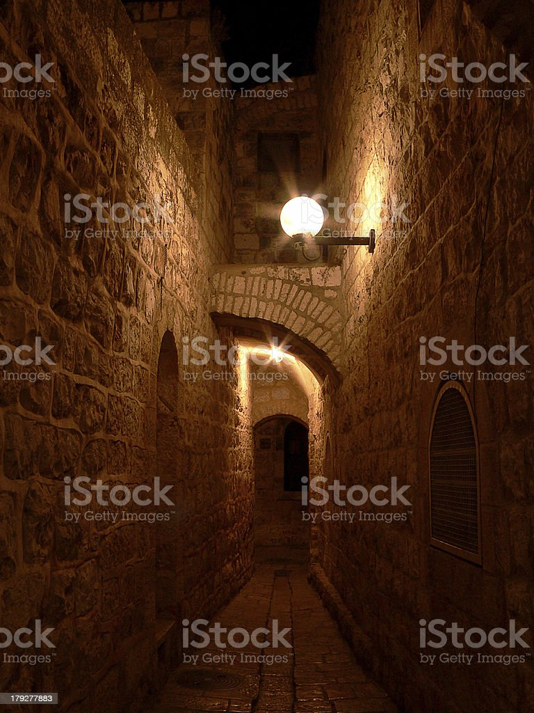 Alley in Jerusalem royalty-free stock photo