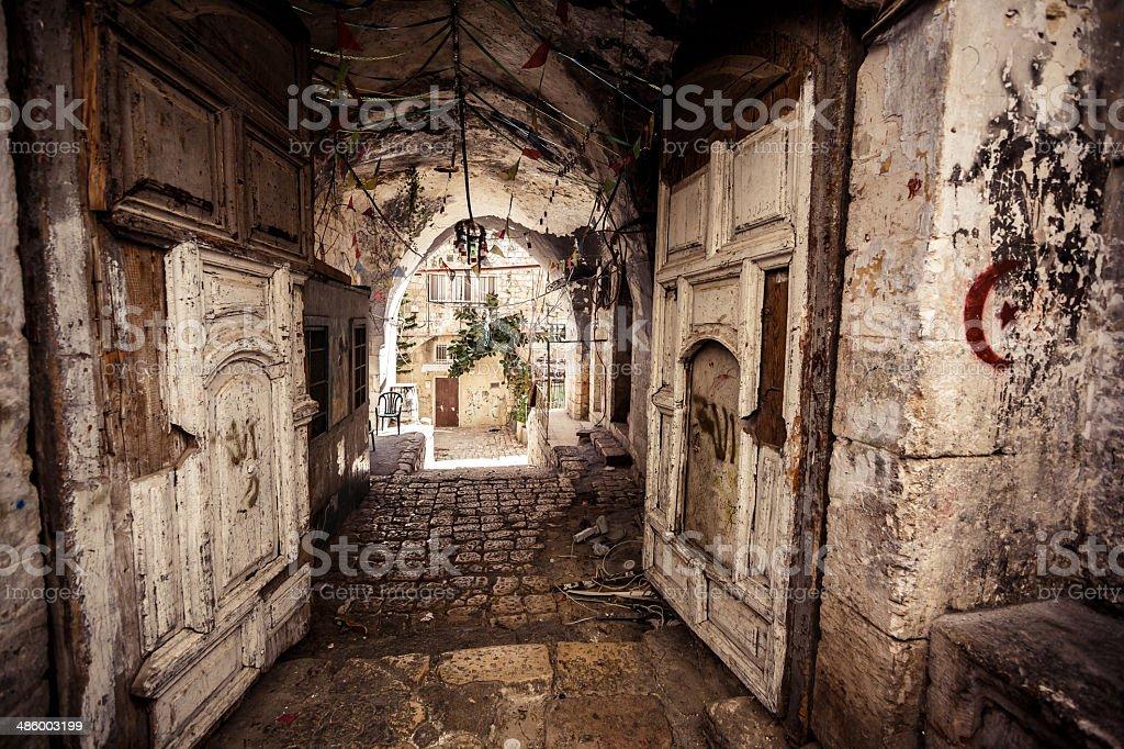 Alley in Jerusalem stock photo