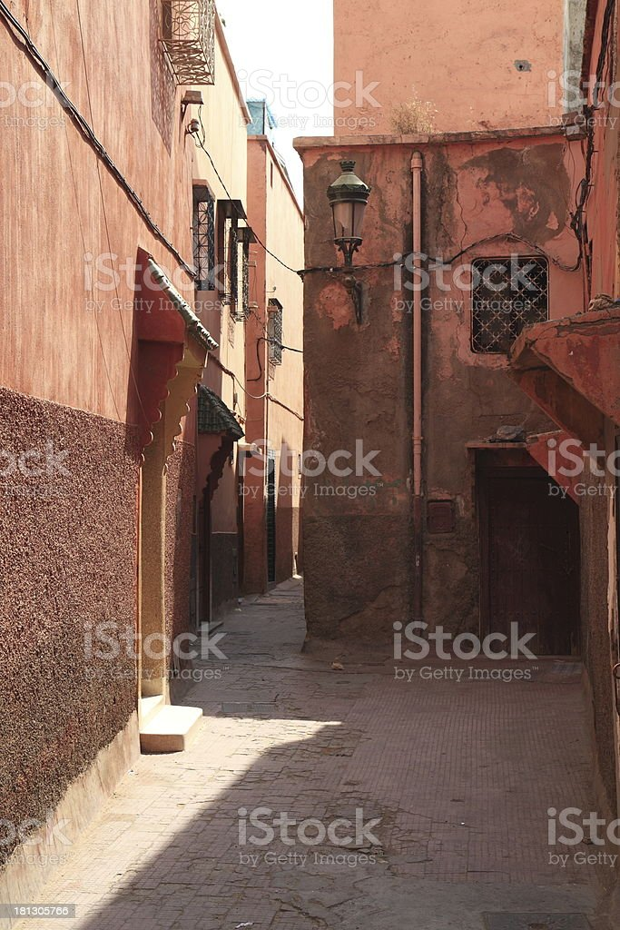 Alley in Marrakech royalty-free stock photo