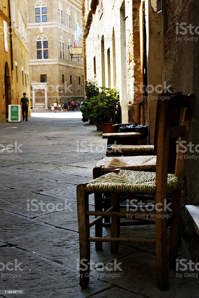 alley in medieval village royalty-free stock photo