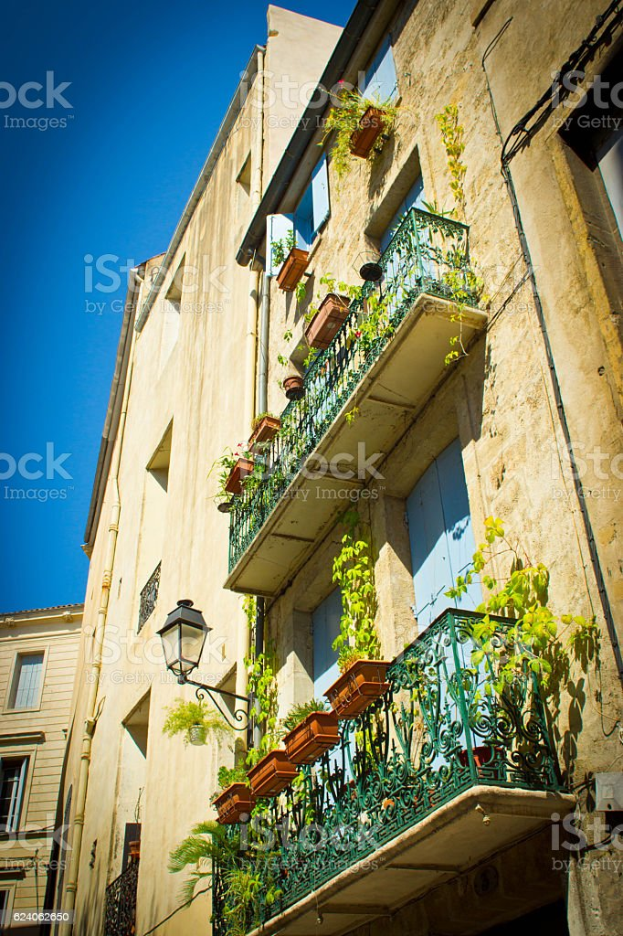Alley in Montpellier stock photo