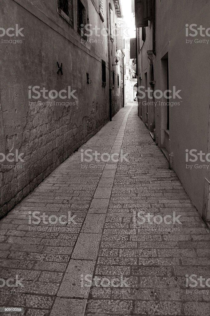 Alley in Novigrad royalty-free stock photo