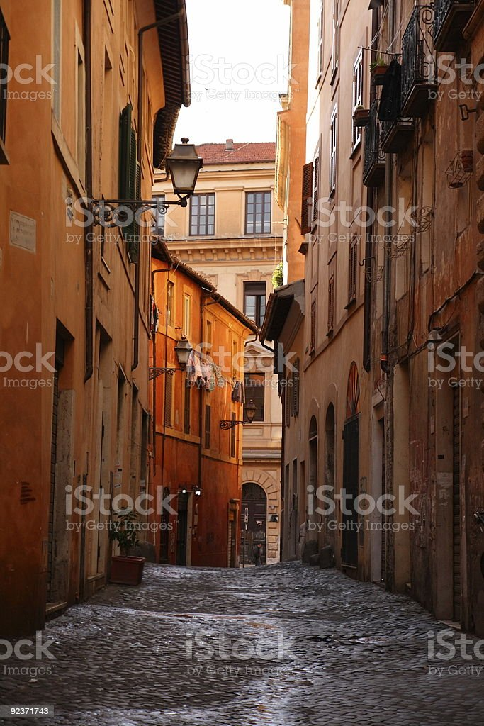 Alley in Rome royalty-free stock photo