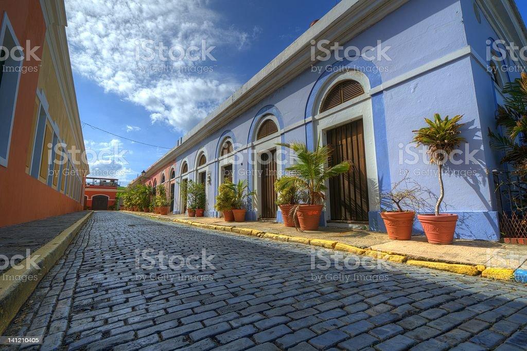 Alley in San Juan stock photo