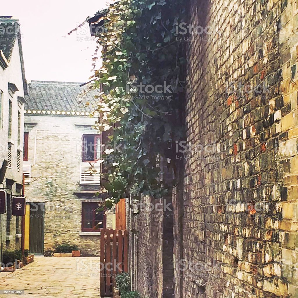 Alley in the historic town in south east China stock photo
