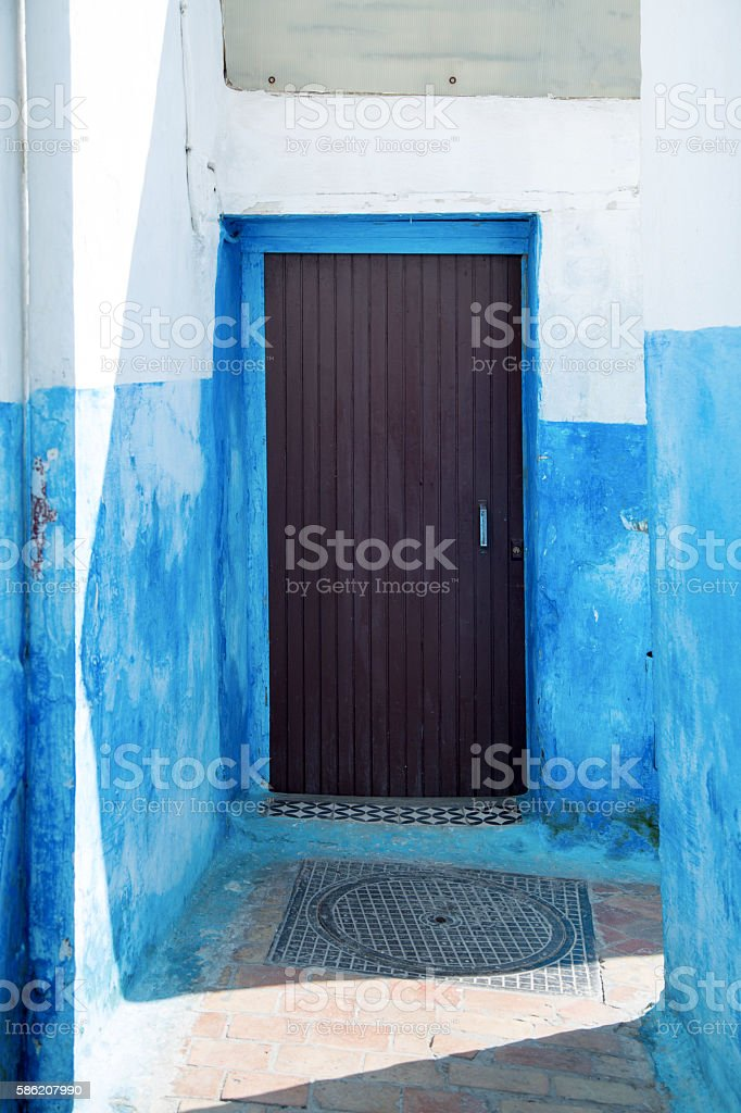 Alley in the Kasbah of the Udayas, Rabat, Morocco stock photo