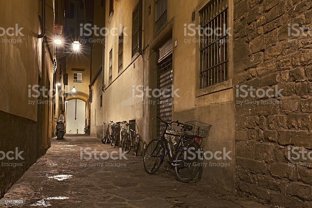 alley in the old town royalty-free stock photo