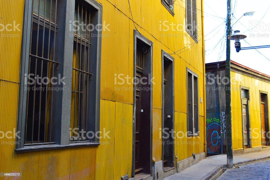 Alley in valparaiso stock photo