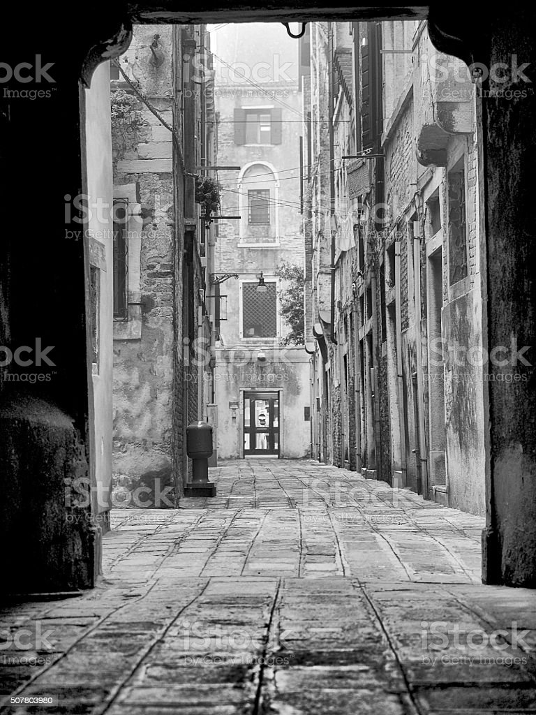 Alley in Venice - Italy stock photo