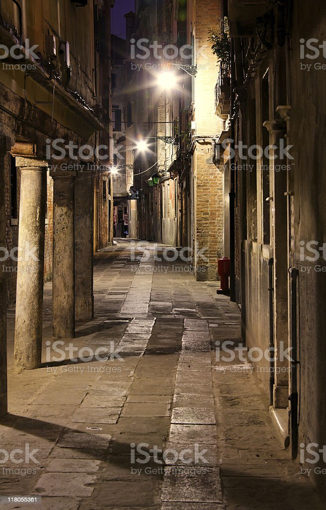 Alley in Venice royalty-free stock photo