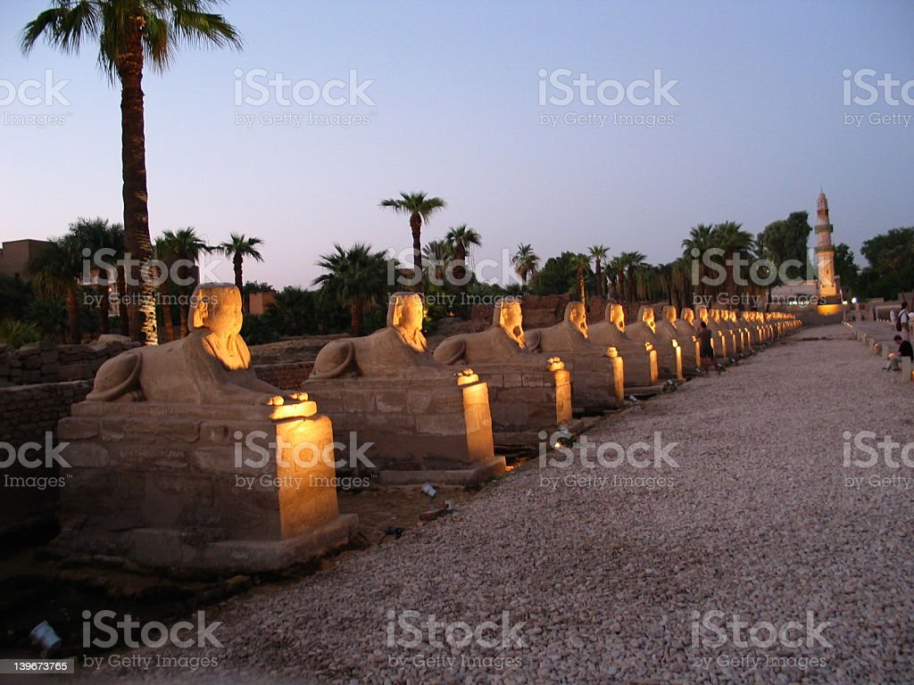 Alley of Sphinxes stock photo