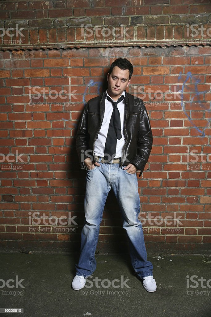 Alley Pose royalty-free stock photo