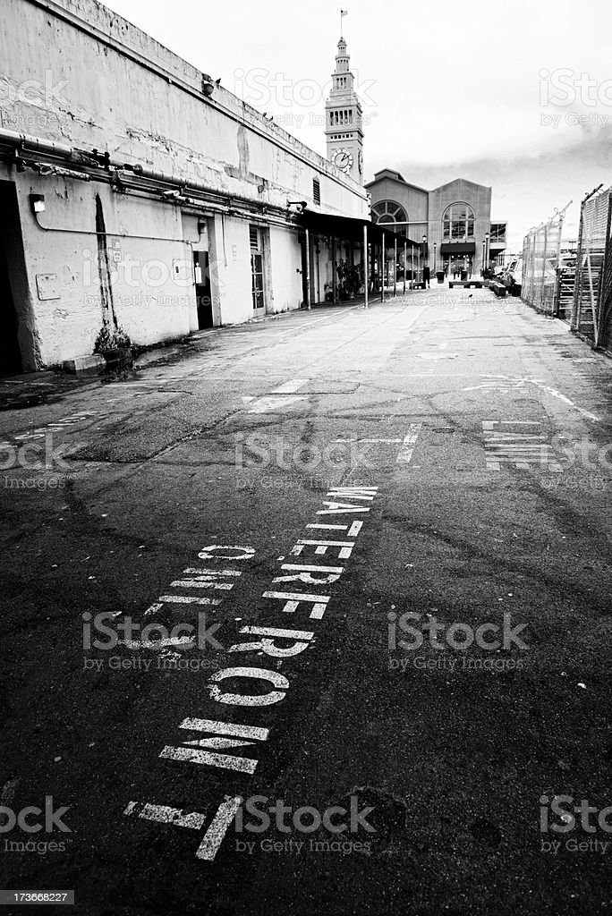 Alley, San Francisco. Black And White royalty-free stock photo