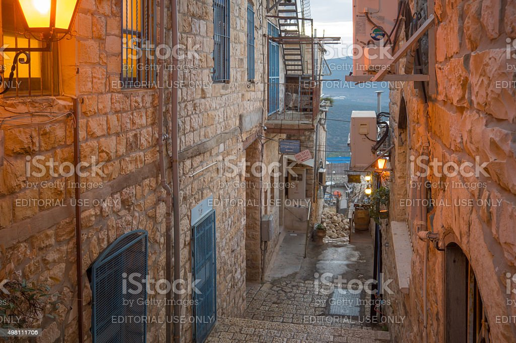 Alley Scene, Safed (Tzfat) stock photo