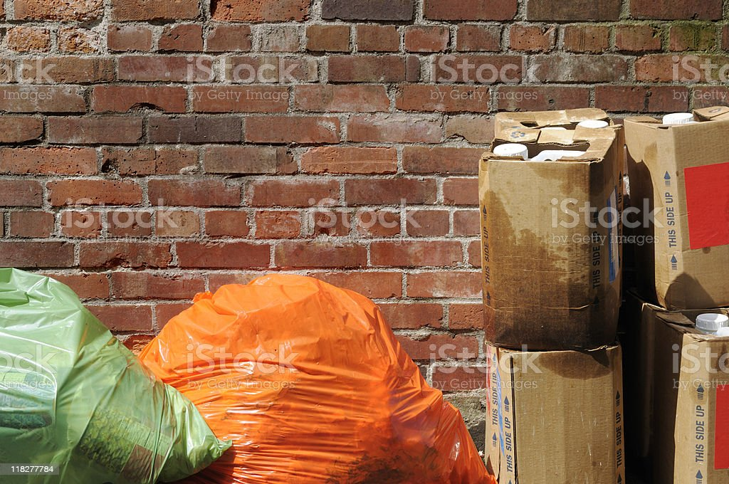 Alley Trash royalty-free stock photo