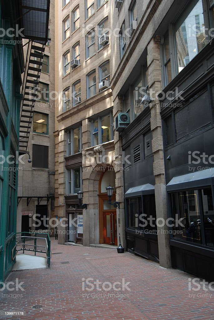Alley view stock photo