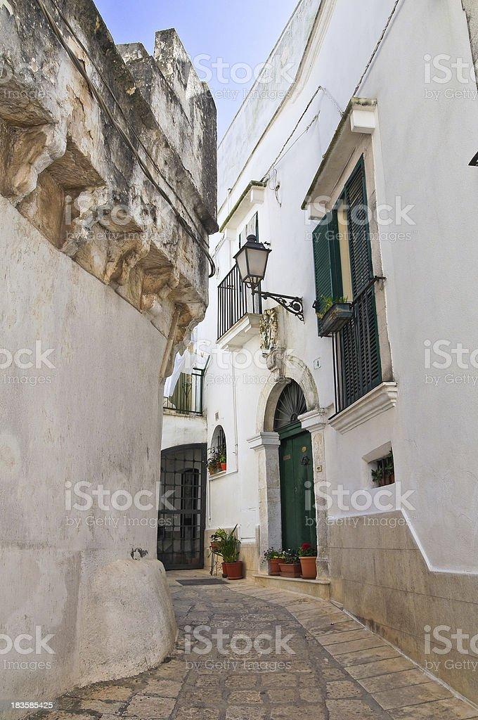 Alleyway. Ceglie Messapica. Puglia. Italy. royalty-free stock photo