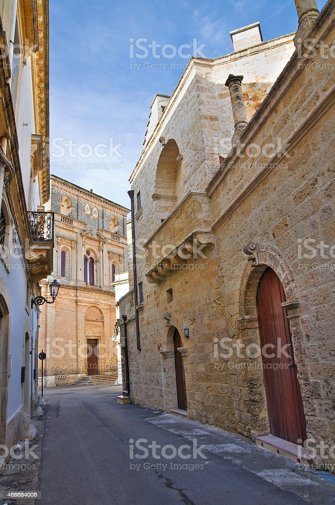 Alleyway. Galatone. Puglia. Italy. stock photo