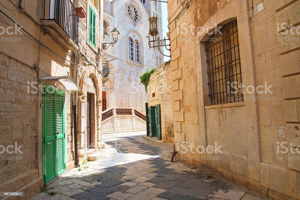 Alleyway. Giovinazzo. Puglia. Italy. stock photo